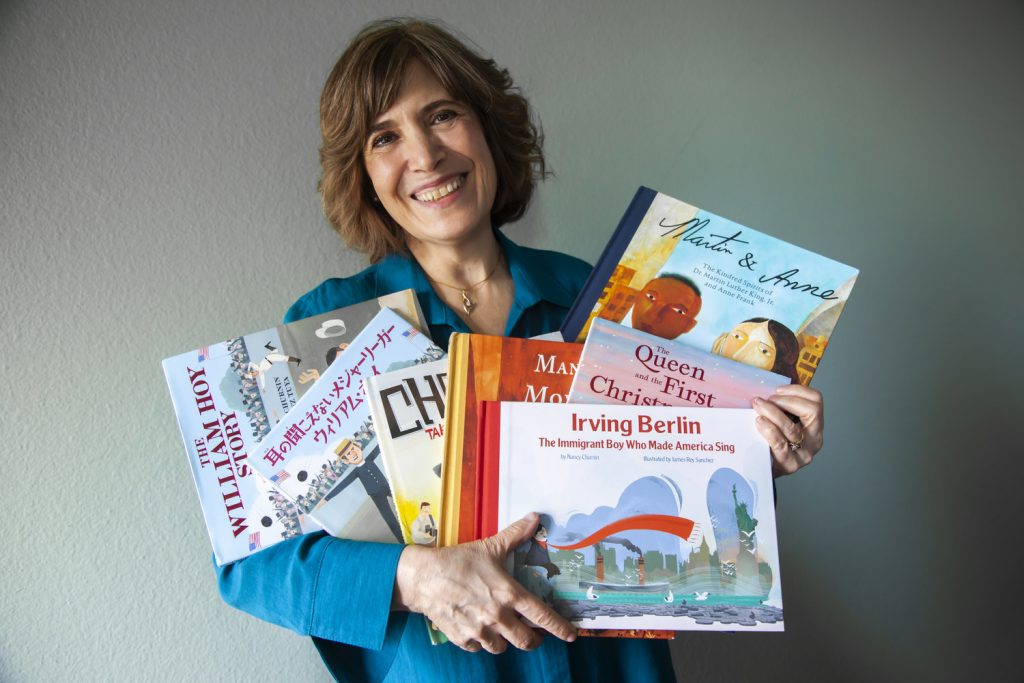 Nancy Churnin with books