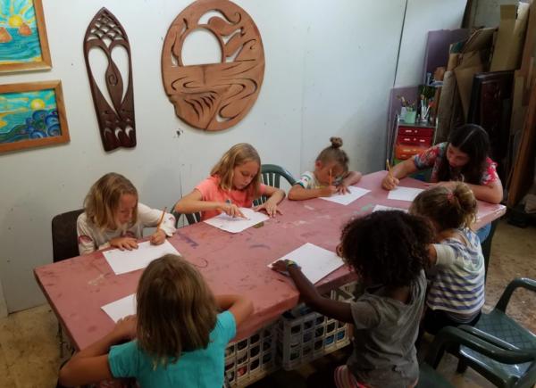 kids art class Nadia Fairlamb Art